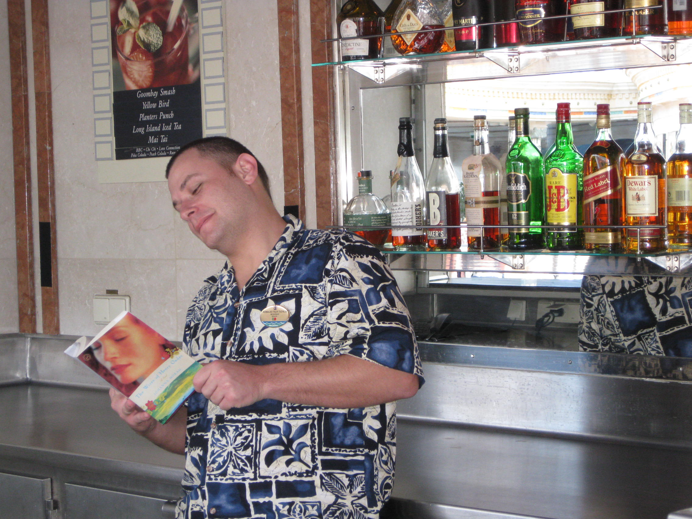 "CRUISE SHIP BARTENDER READING ""WIVES"""