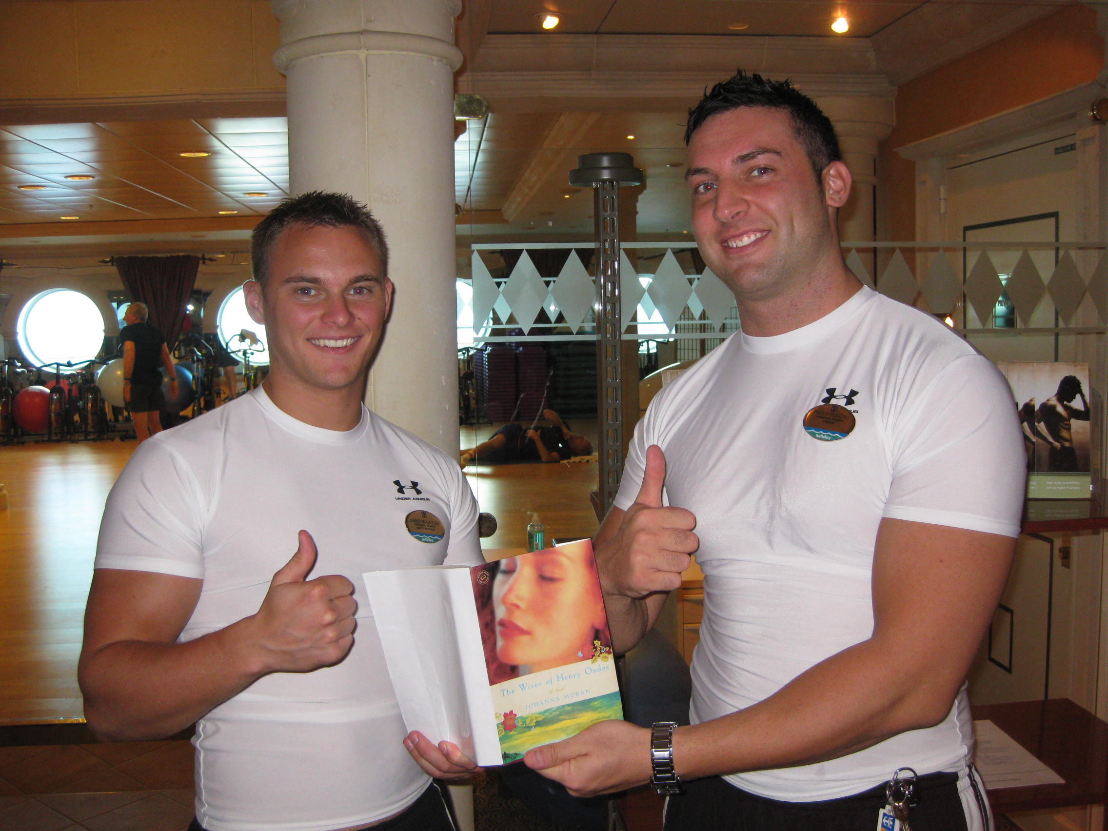 "CRUISE SHIP MUSCLEMEN READING ""WIVES"""