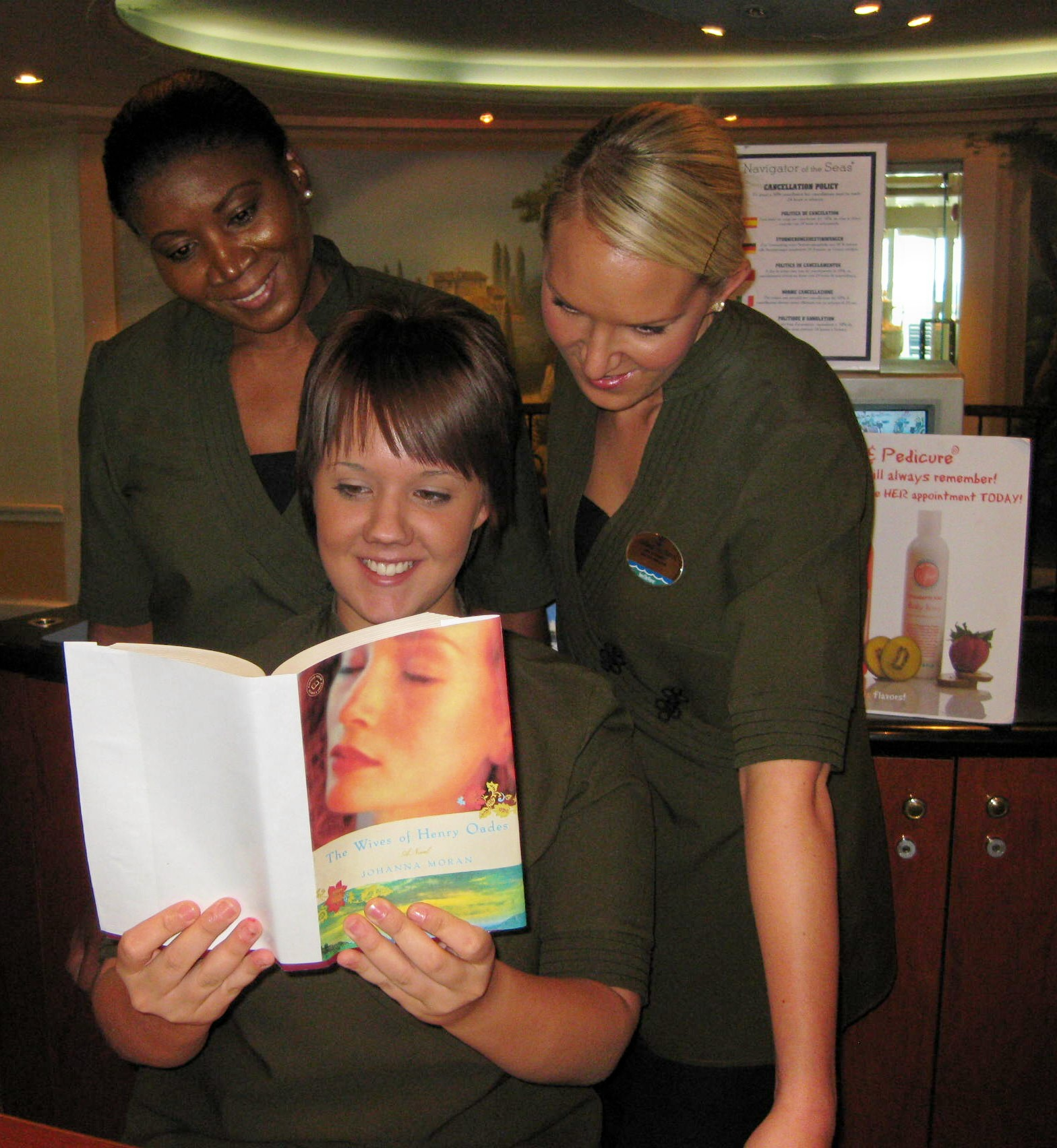 "CRUISE SHIP SPA LADIES READING ""WIVES"""