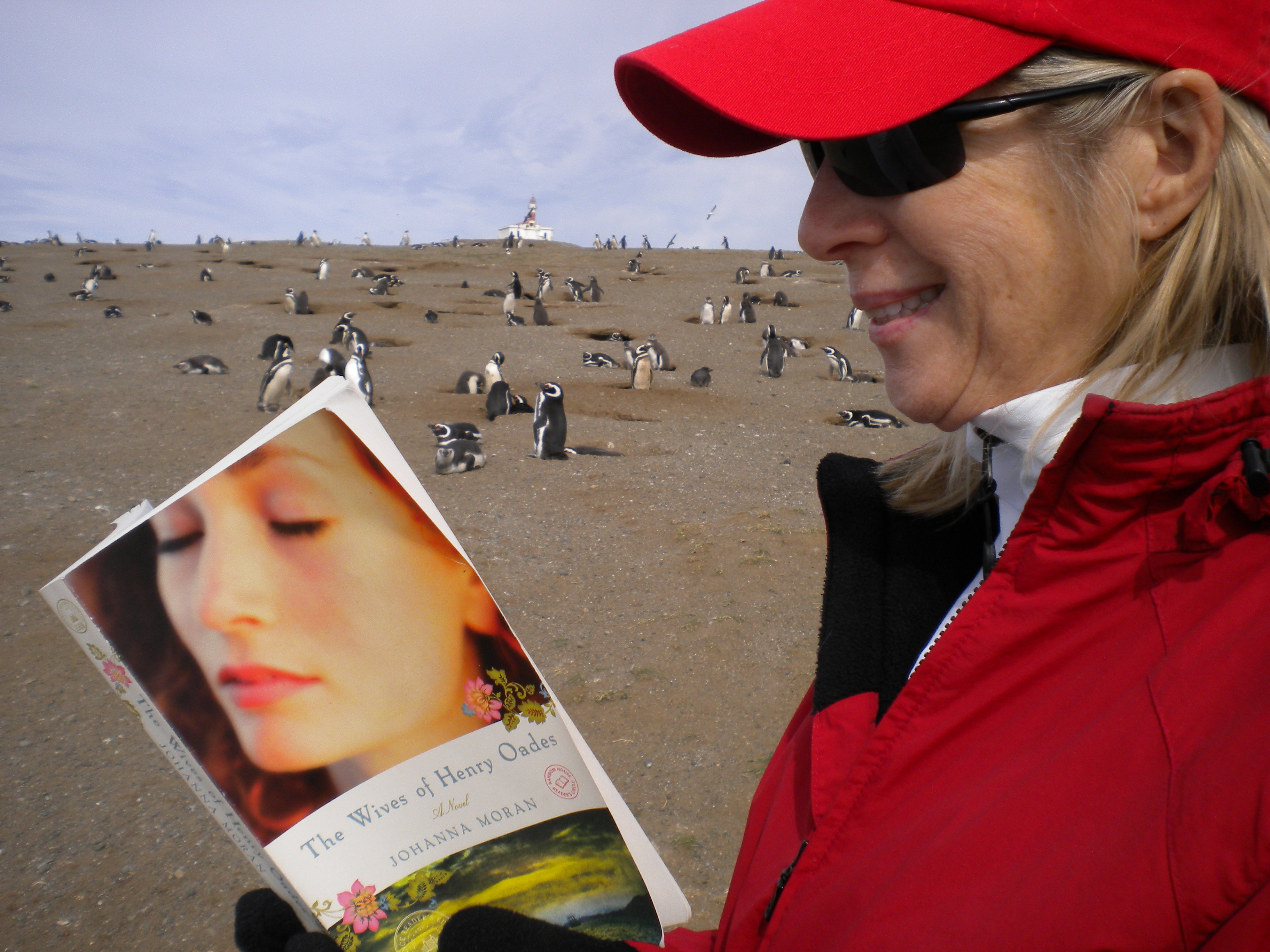 "READING ""WIVES"" TO PENGUINS IN CHILE"